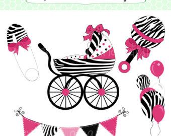 Baby Shower Zebra Clipart.