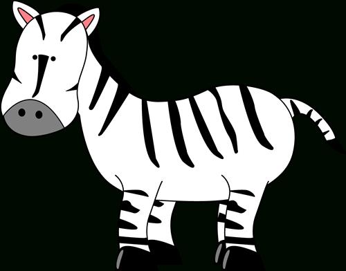 Cute zebra clipart black and white letters.