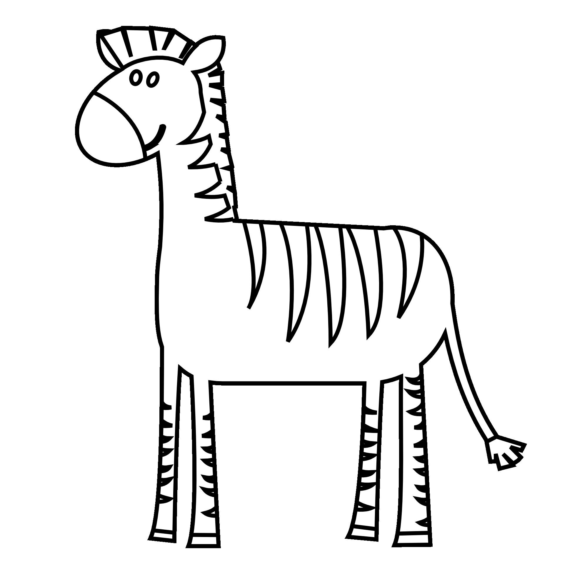 Zebra Drawing Easy.