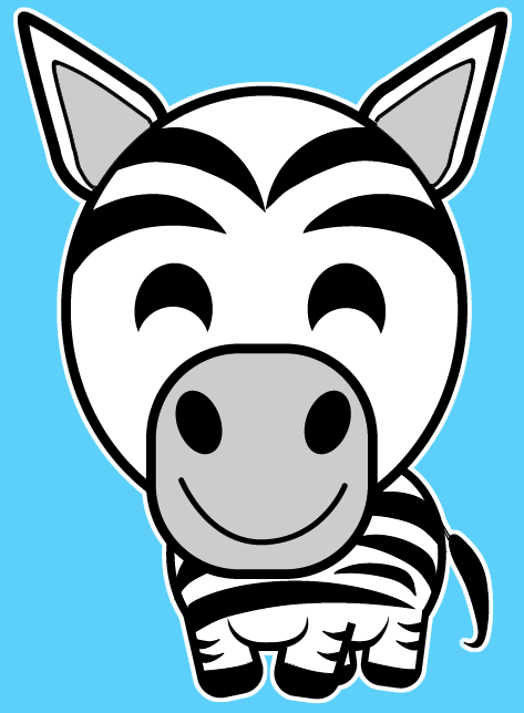 How to Draw a Cartoon Zebra with Easy Steps Lesson for Kids.