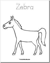 Image result for zebra no stripes clip art.