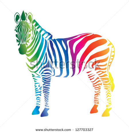 Color Drawing Zebra Stock Images, Royalty.