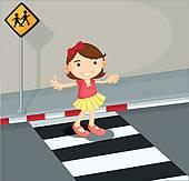 Pedestrian Crossing Clip Art.
