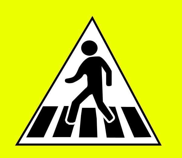 Zebra Crossing Sign.