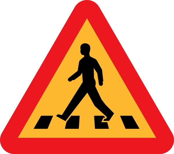 Pedestrian Crossing Sign clip art Free vector in Open office.