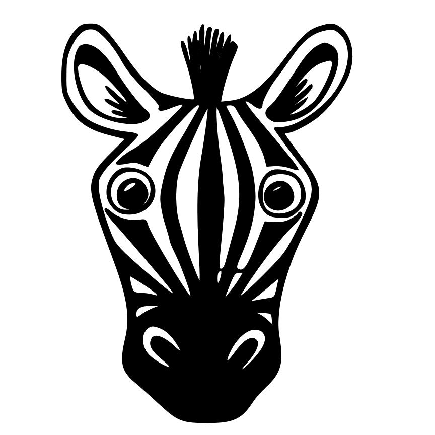 Zebra Face Clipart.