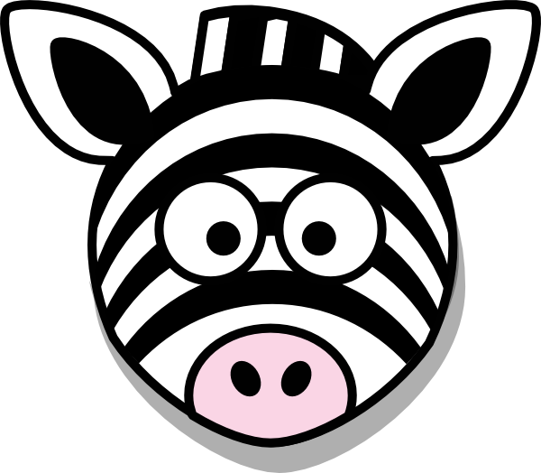 Zebra Head No Body Clip Art at Clker.com.