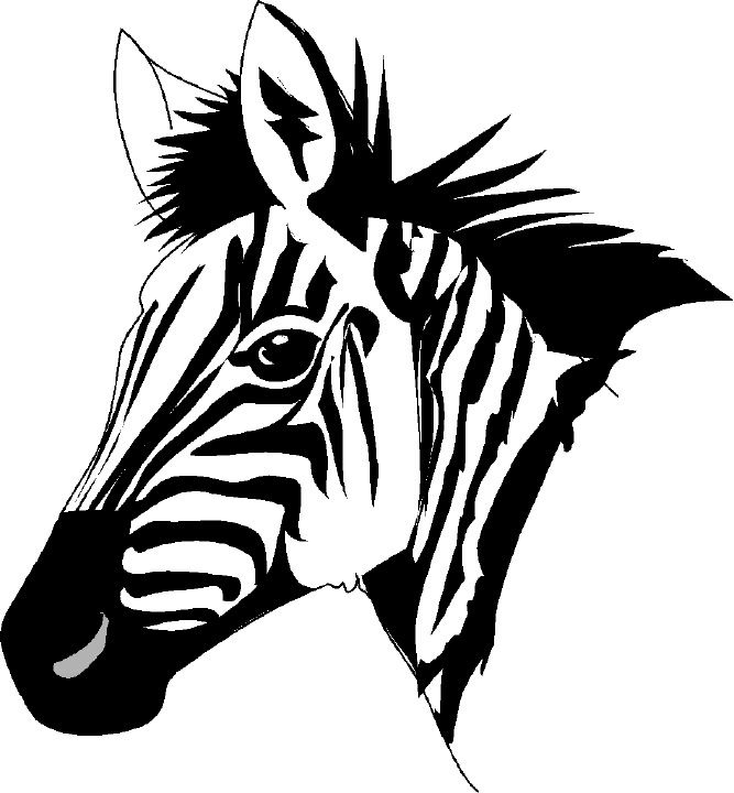 Zebra Head Clipart.