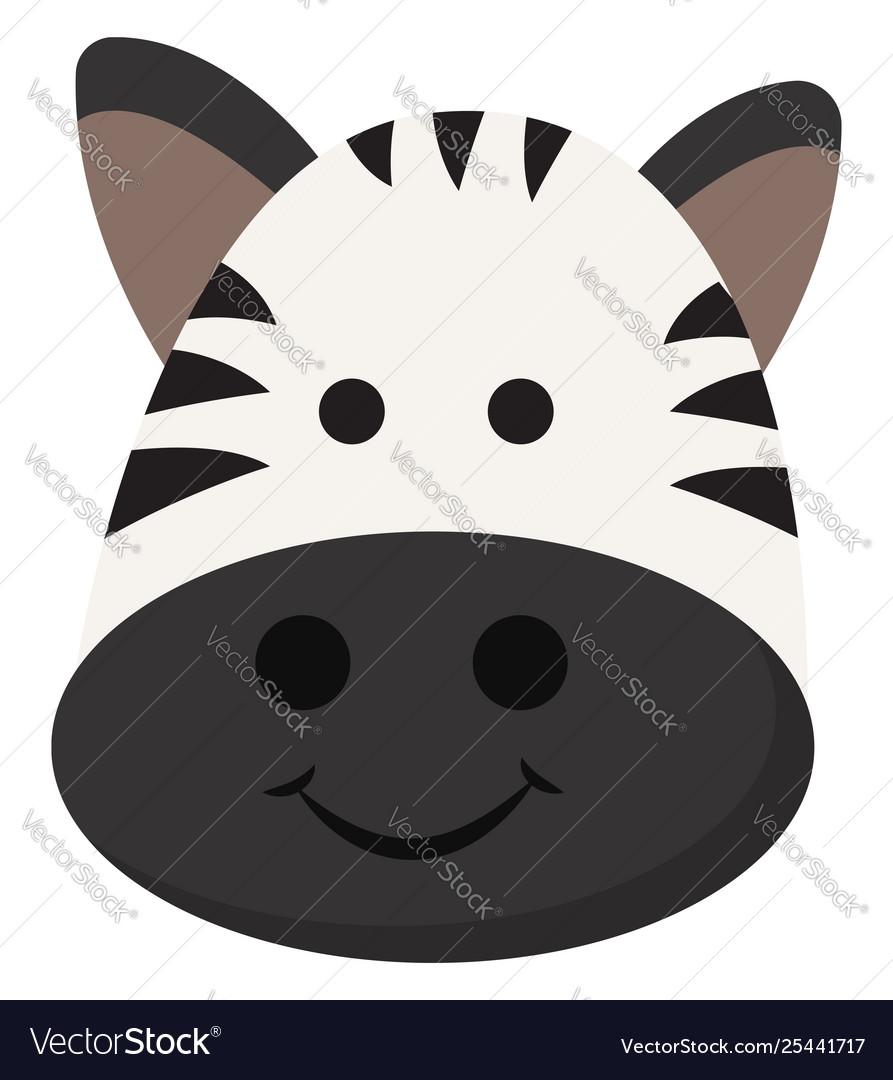 Emoji smiling cartoon face a zebra or.