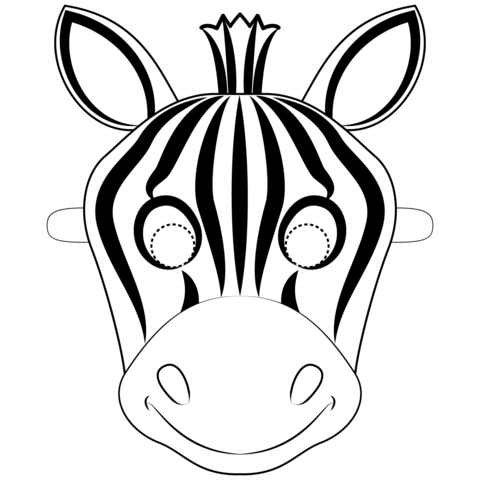 Zebra coloring pages.