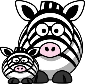 Zebra Mom Clip Art at Clker.com.
