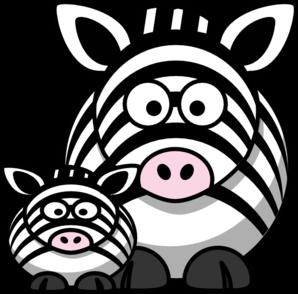Zebra Mom Clip Art at Clker.com.