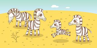Zebra Family Stock Images.