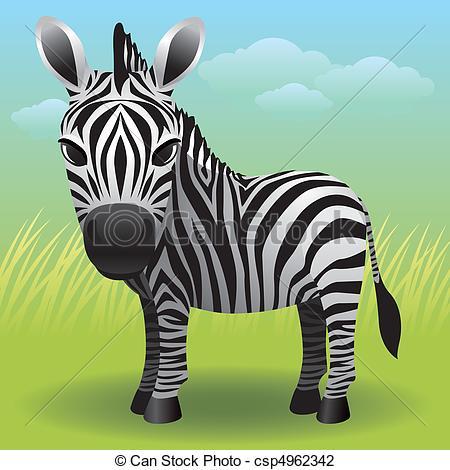 Vector Illustration of Zebra.
