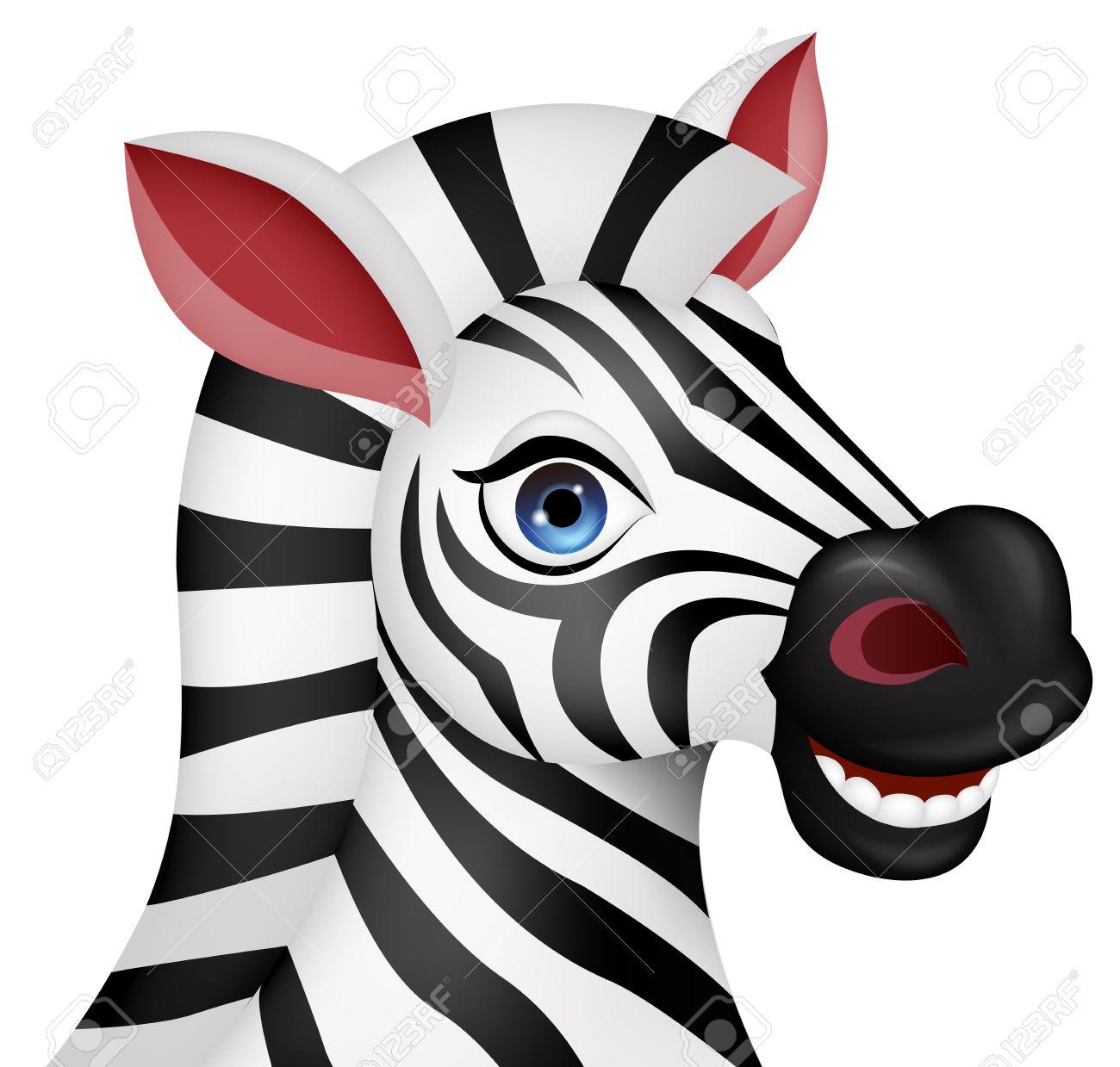 Zebra head cartoon.