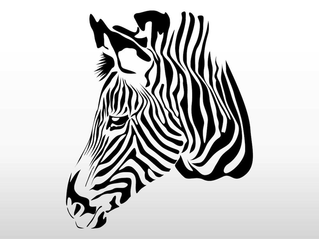 Zebra Head Vector Art & Graphics.