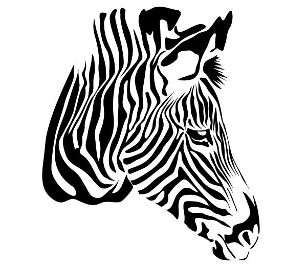 Zebra Head Vector Free.