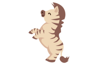 Zebra on hind legs SVG Cut Files.