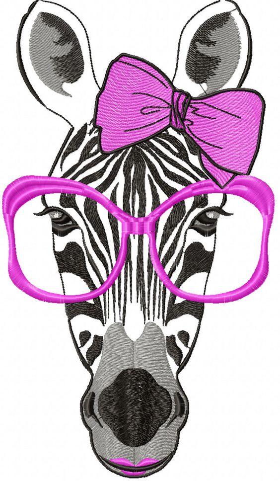 Zebra with Sunglasses.