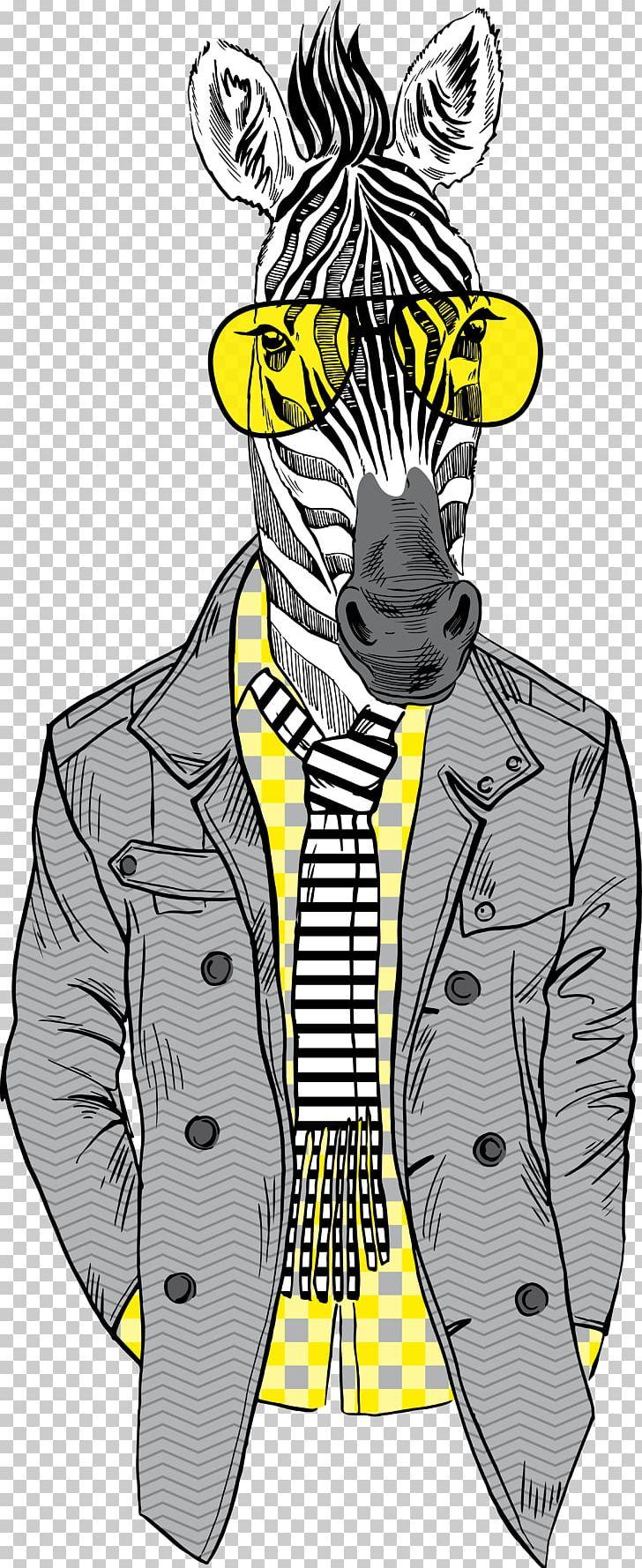 Horse Fashion Illustration Zebra PNG, Clipart, Animal.