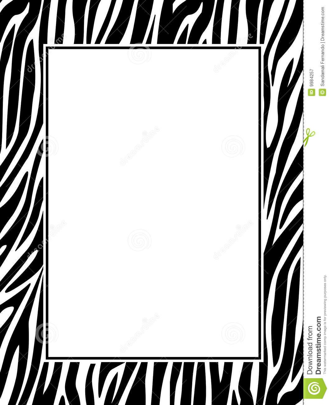 Zebra Border Clip Art & Look At Clip Art Images.