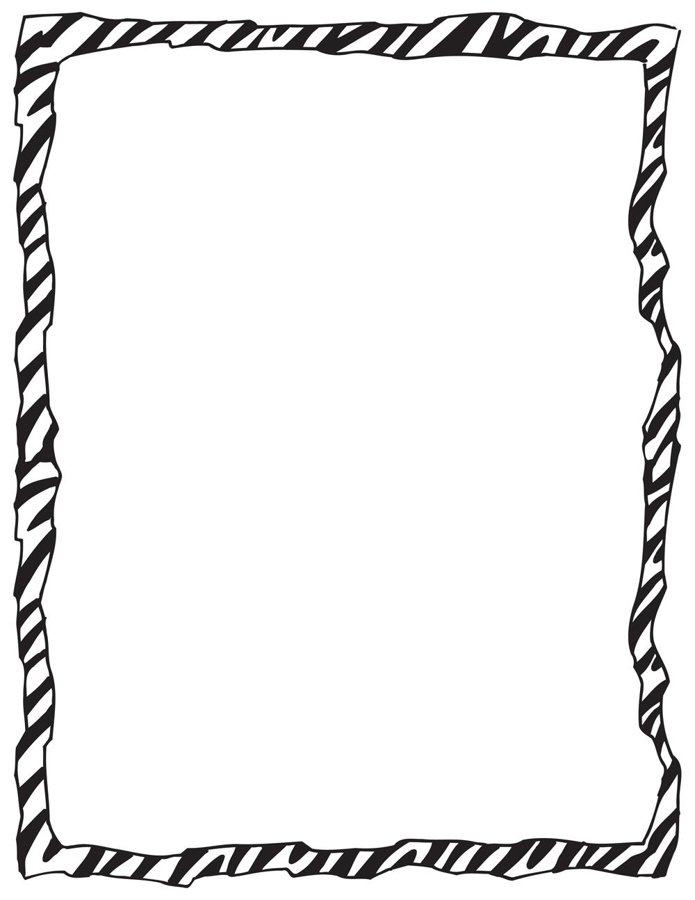 Free Zebra Page Border, Download Free Clip Art, Free Clip Art on.