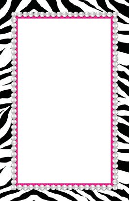 Zebra print page borders free.