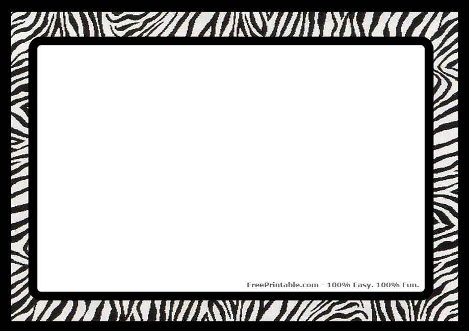 95+ Zebra Border Clip Art.