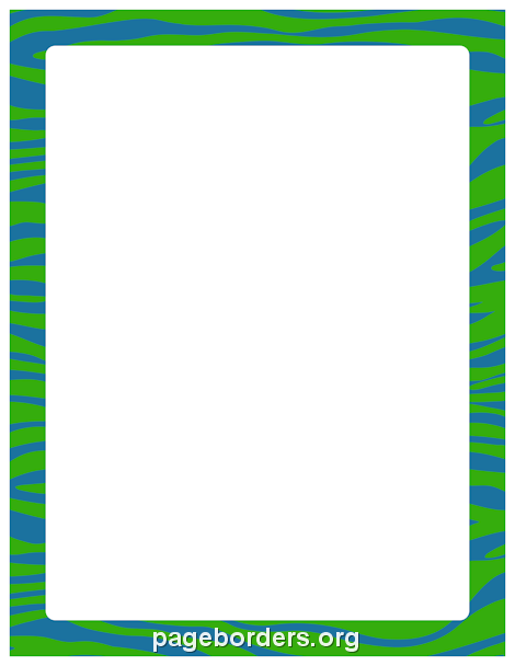 Free Zebra Print Border Clipart.