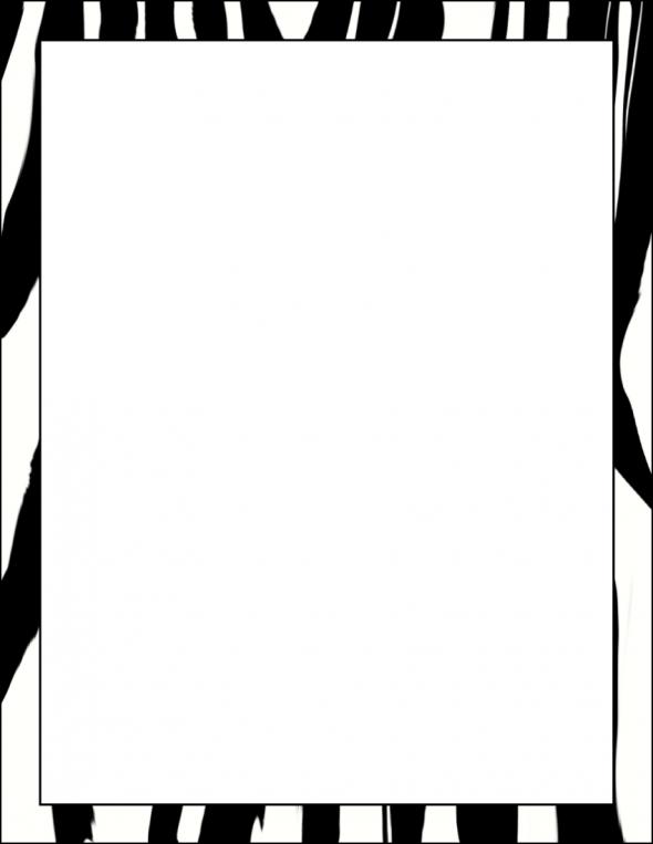 Zebra Border Cliparts.