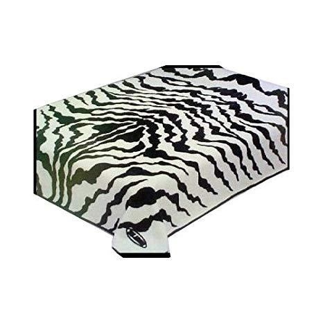 Solaron New Twin Size Zebra Print Korean Mink Blanket.