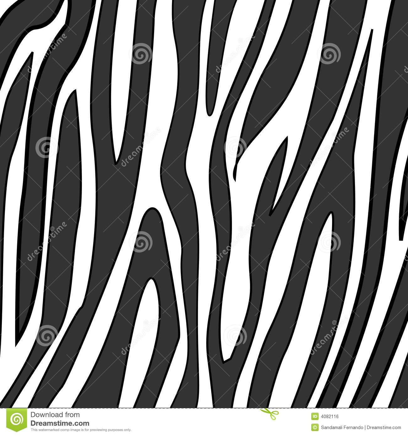 Zebra Print stock vector. Illustration of pattern, clipart.