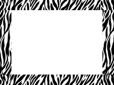 Zebra Print Border Template Group with 72+ items.