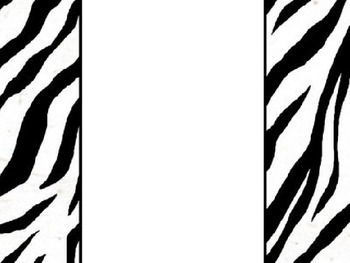 Awesome Animal Print Classroom Signs Decor Tags Borders 8.5 x 11 All Grades.