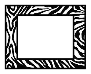 The Free SVG Blog: Zebra Print Frame.