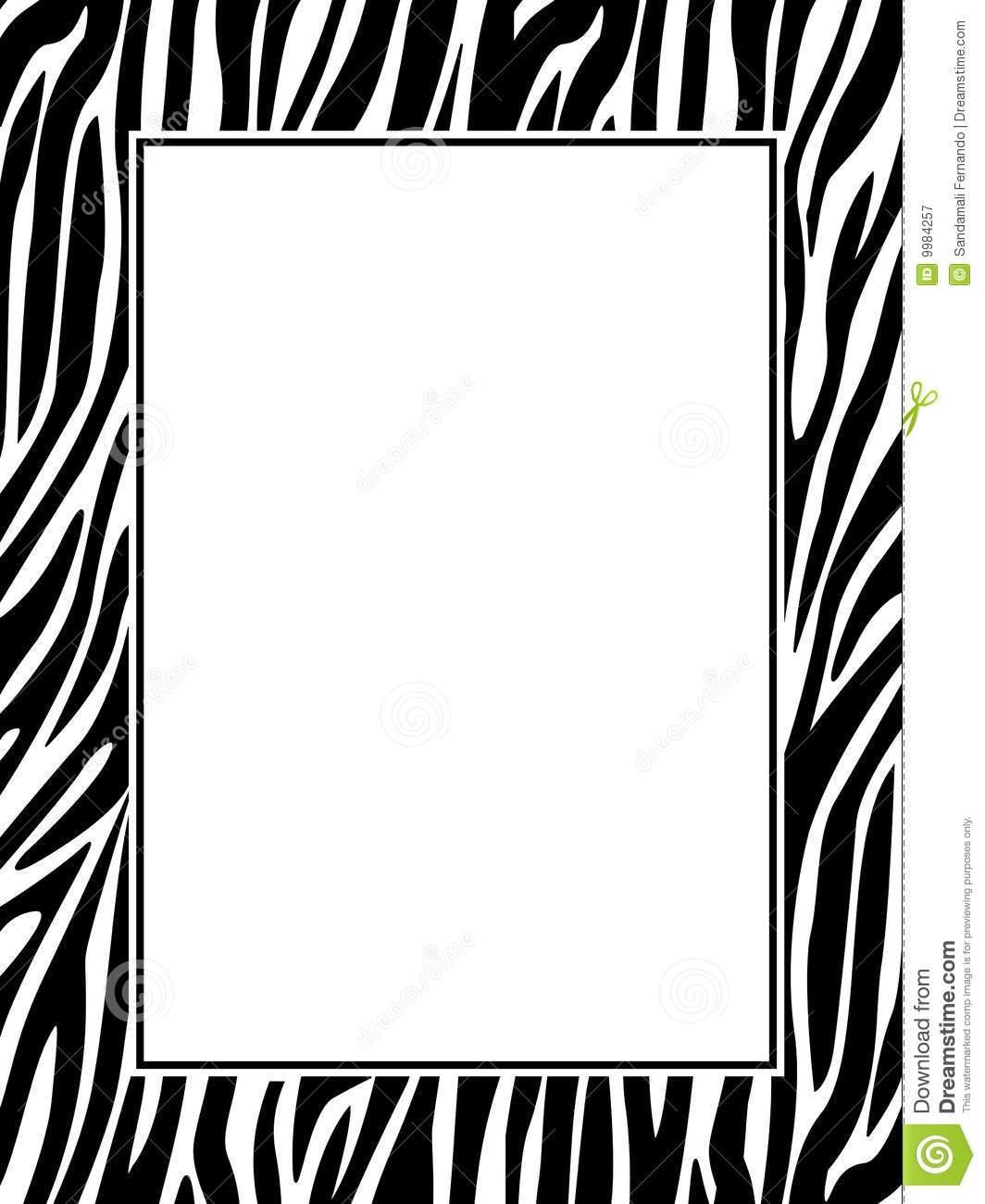 Zebra print frame clipart 1 » Clipart Portal.