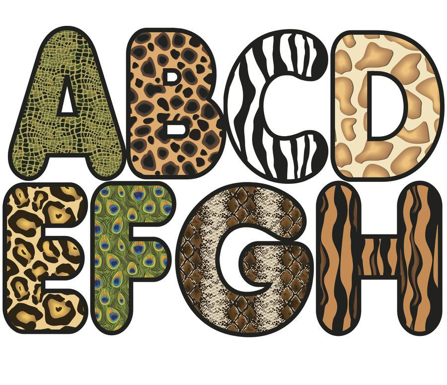 Zebra Print Letters Printable 8.