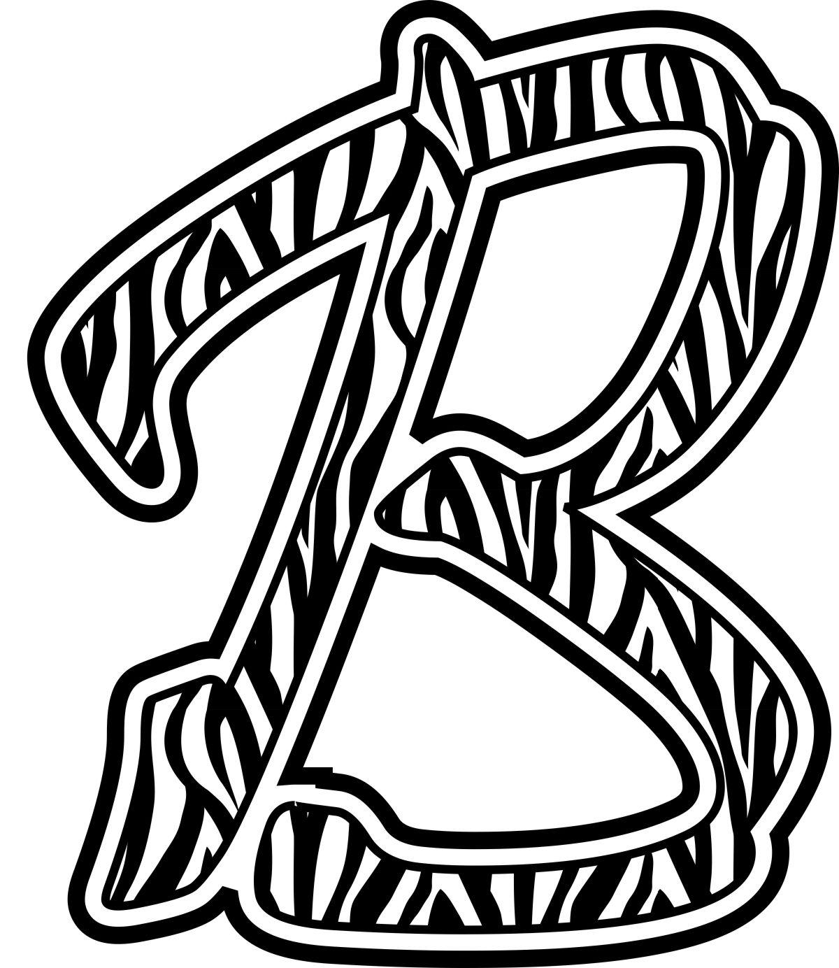Free Zebra Print Letters Printable, Download Free Clip Art.
