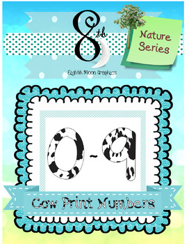Cow Print Number Clip Art.