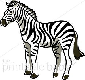 Zebra Profile Clipart.