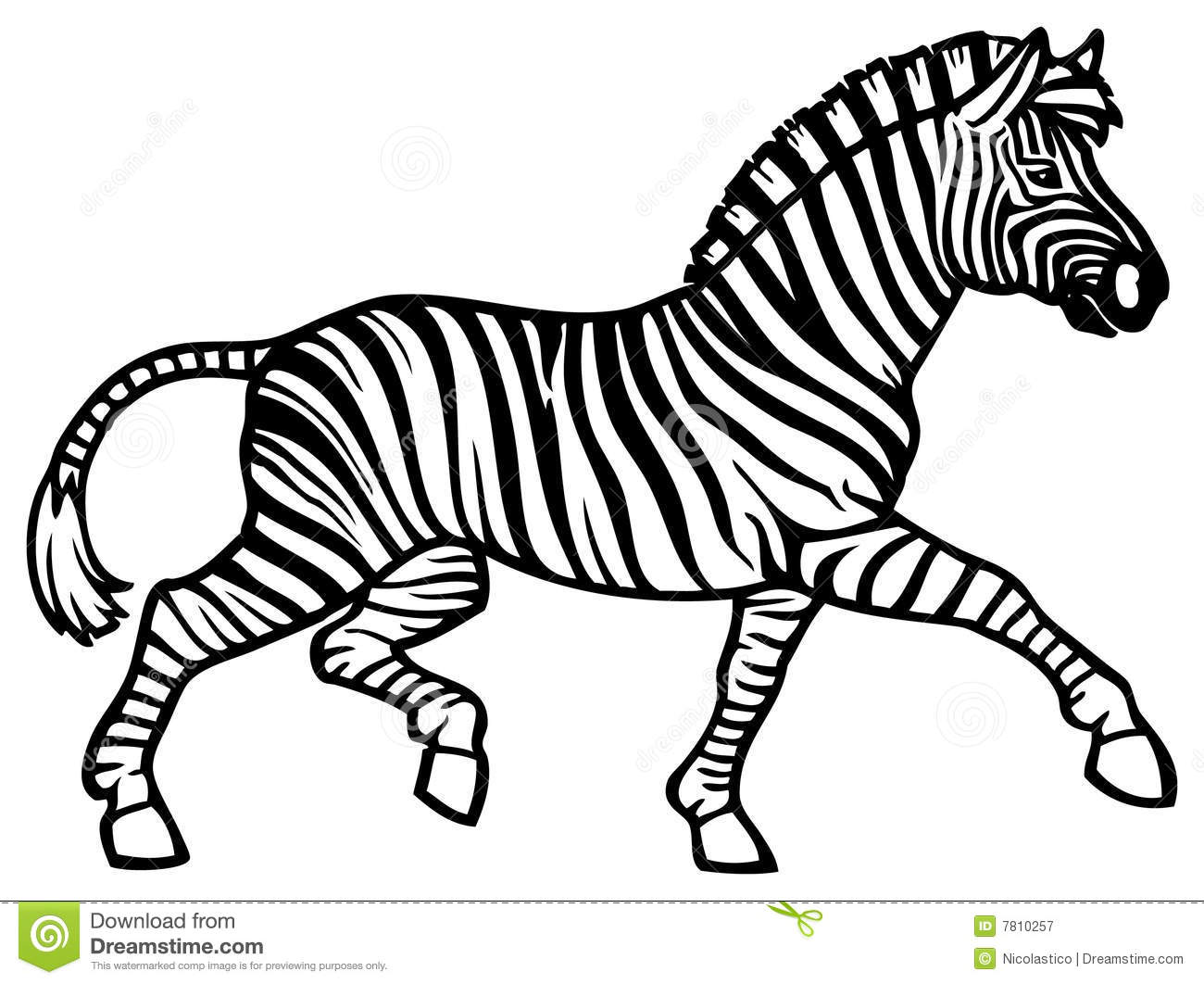 Running Zebra Clipart.