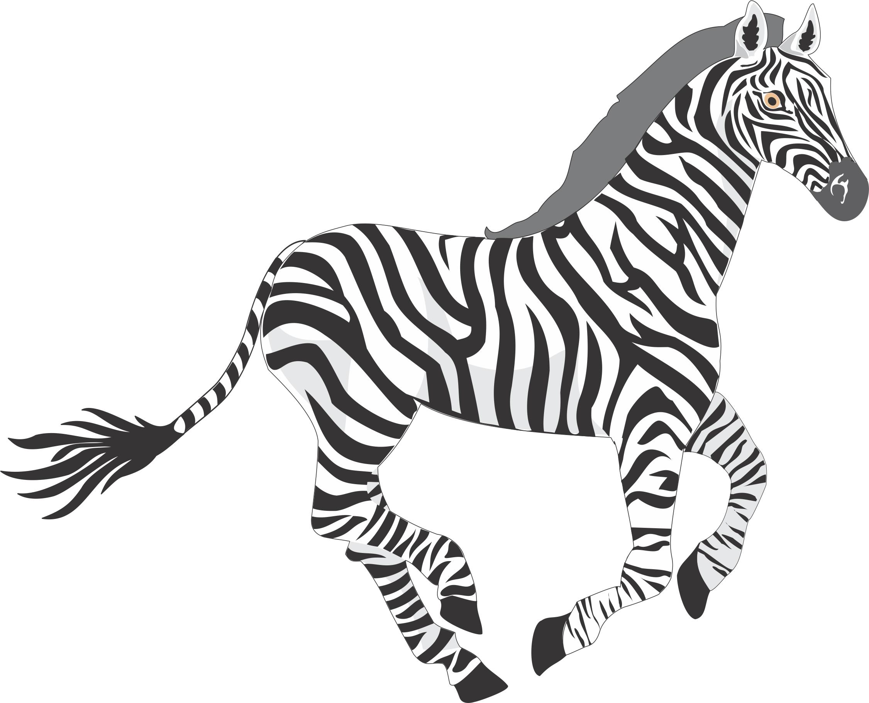 Cartoon Zebra.