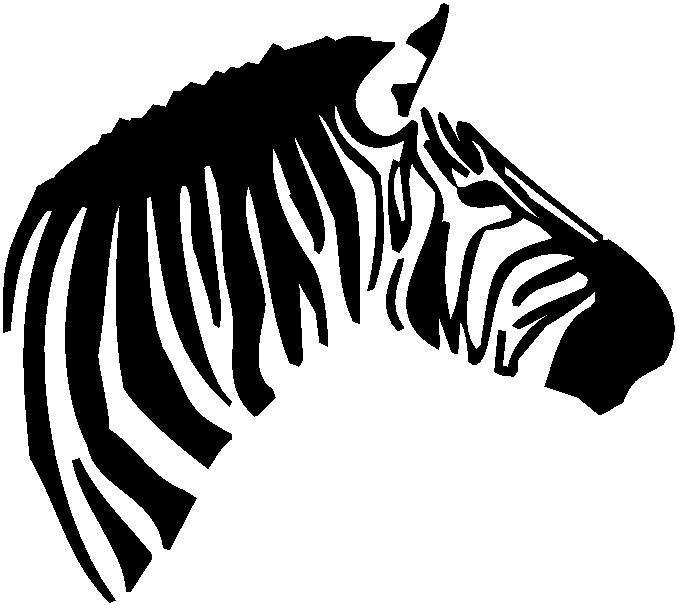 Zebra Background Clipart.