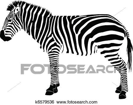 Zebra silhouette vector Clip Art.