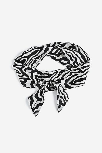 Zebra Print Head Scarf in 2019.