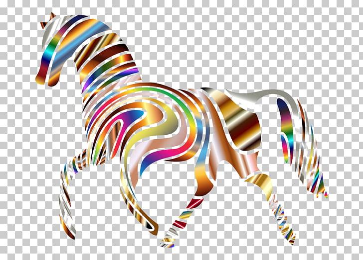 Zebra Horse Eliot School, psychedelic PNG clipart.