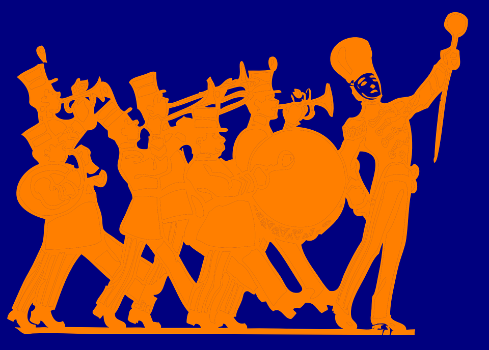 Free vector graphic: Marching, Band, Military.