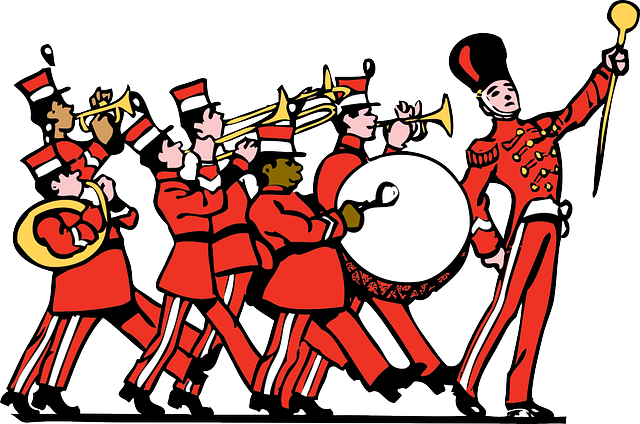 Free vector graphic: Marching Band, Uniform, Instrument.