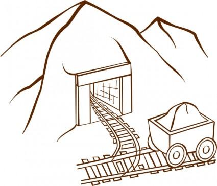 Clipart Bergwerk.