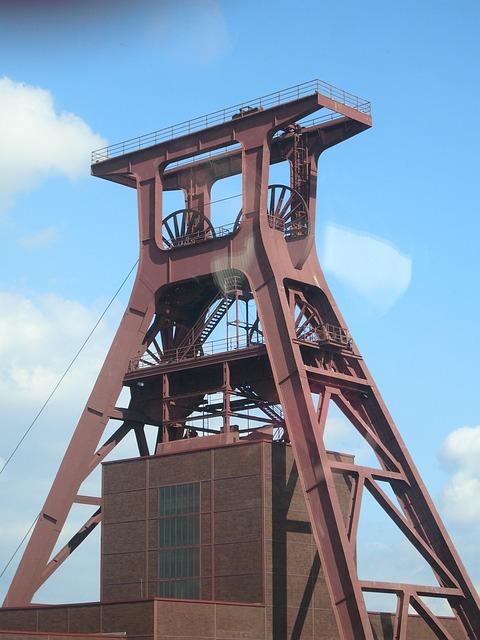 Kostenloses Foto: Förderturm, Bergwerk, Mine, Essen.
